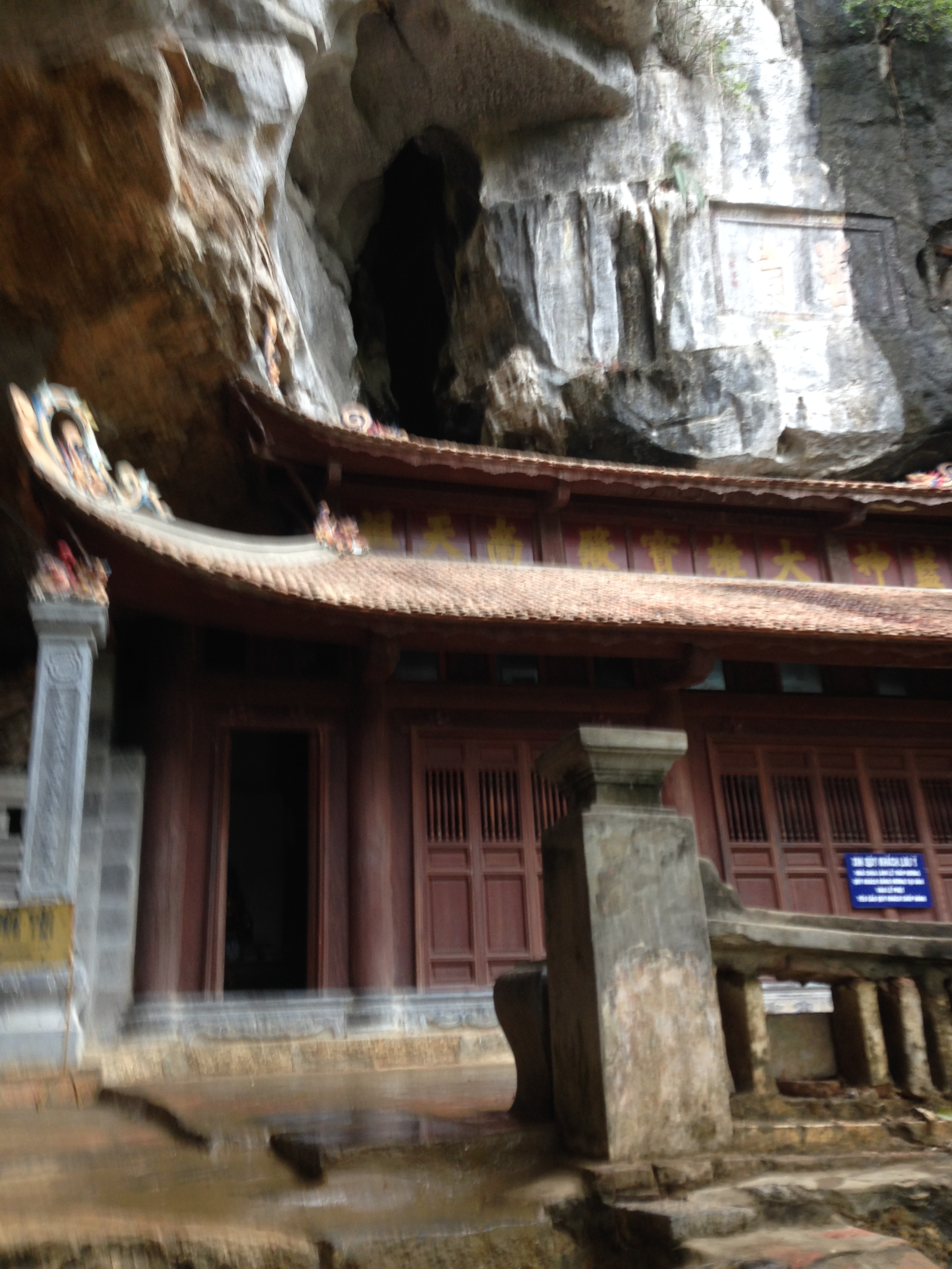 to a beautiful temple in a cave