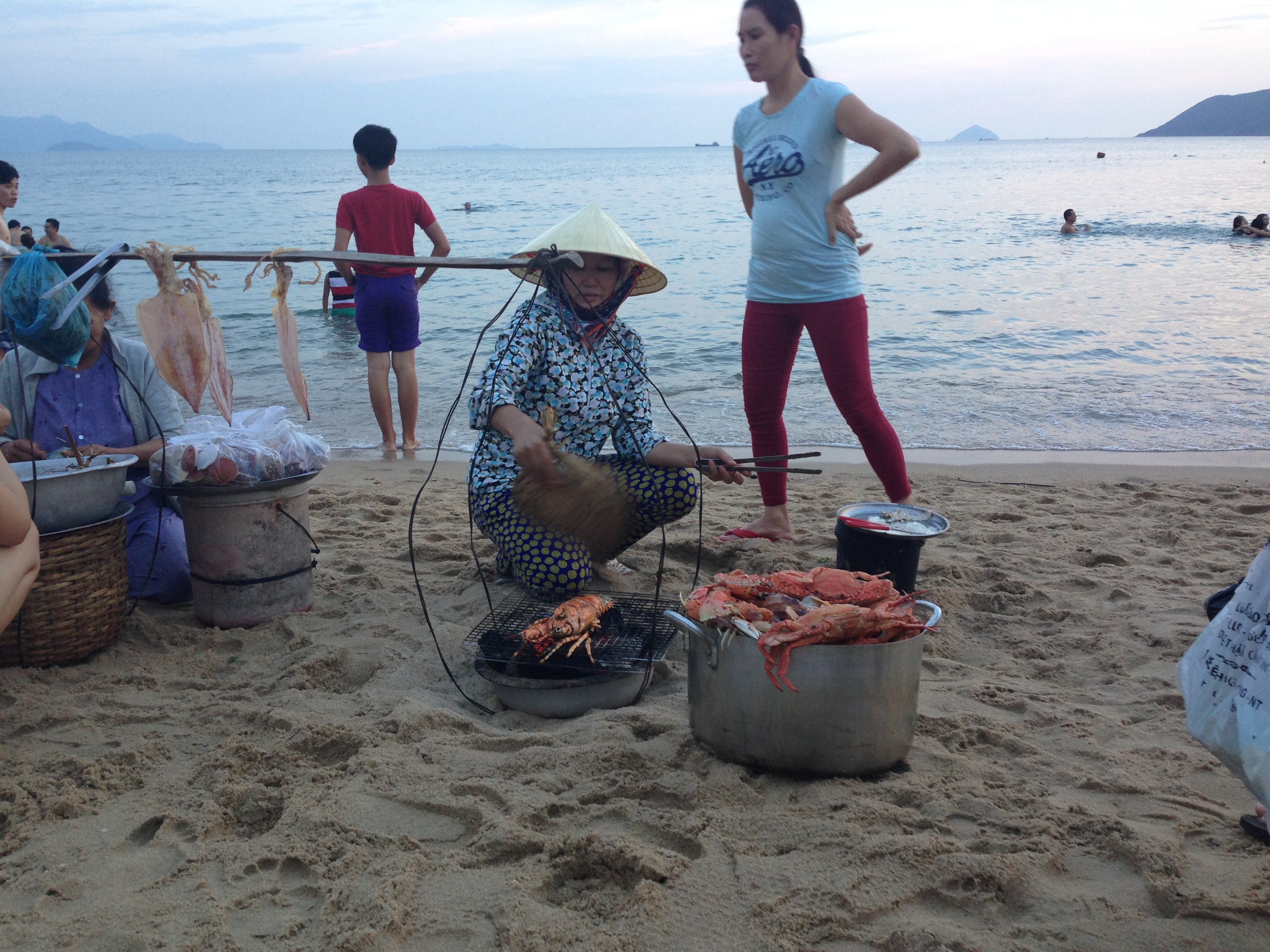 wow my cook, directly at the beach