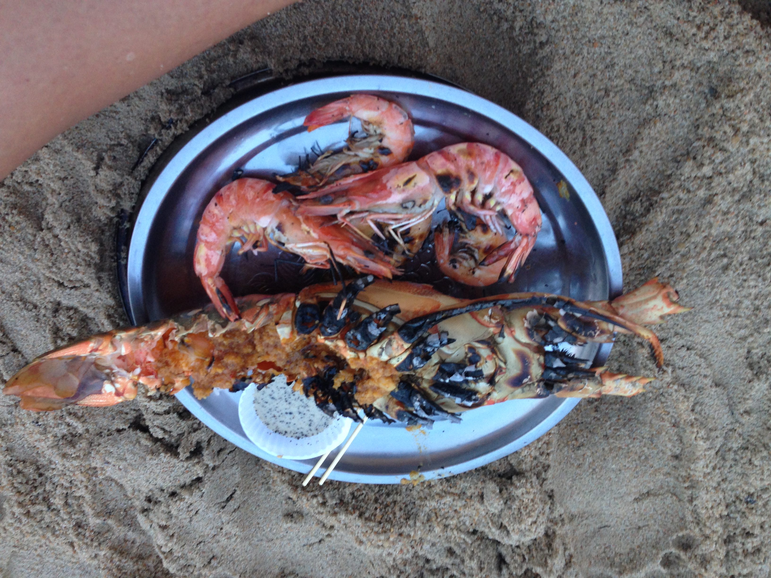 and this was dinner at the beach